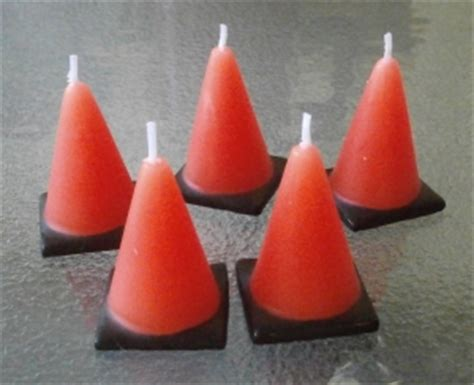candle construction tnt caution construction cone candle