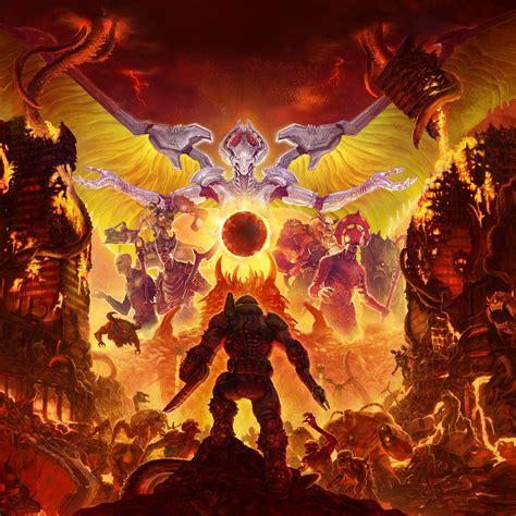doom eternal doomguy hell monsters   wallpaper