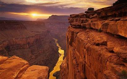 Canyon Grand Wallpapers Sunset Cave