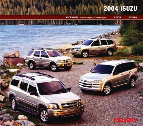car service manuals pdf 2004 isuzu ascender spare parts catalogs 2004 isuzu ascender axiom rodeo original car sales brochure ebay