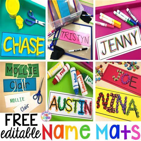 free editable name mats pocket of preschool 538 | Slide1 10