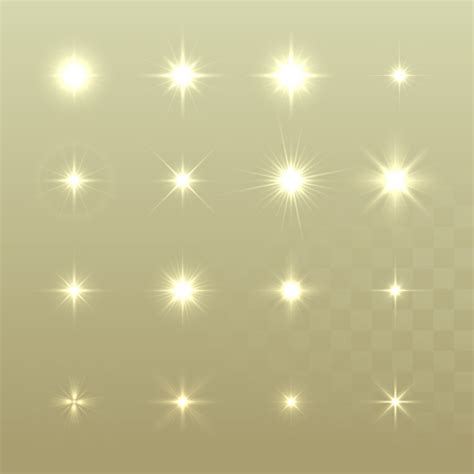 glowing stars effects vector set