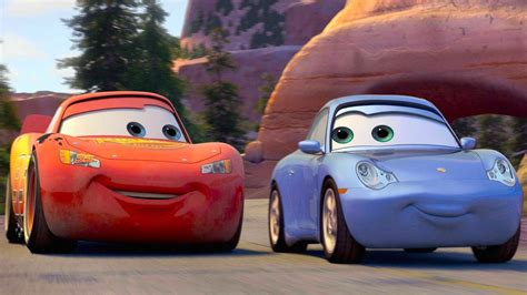 cars sally and lightning mcqueen kids movie disney pixar cars toon lightning mcqueen and