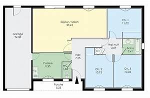 plan dune maison de trois chambres With plan petite maison 3 chambres