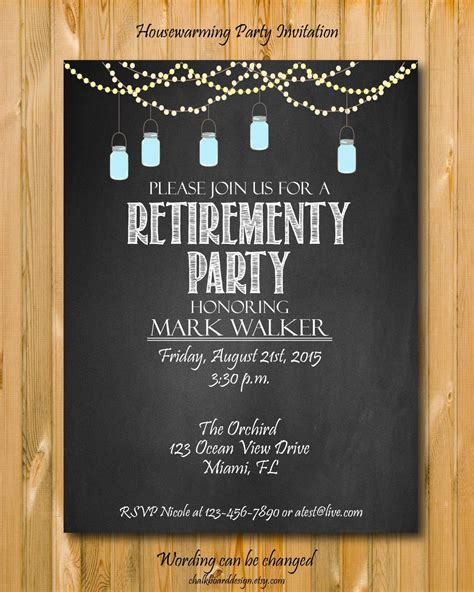 Here's a collection of some of the finest retirement decoration, cakes, gifts and party favors which will help you host one of the best retirement party. Best printable retirement invitations | Roy Blog