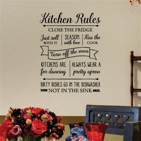 kitchen rules wall quotes decal wallquotescom
