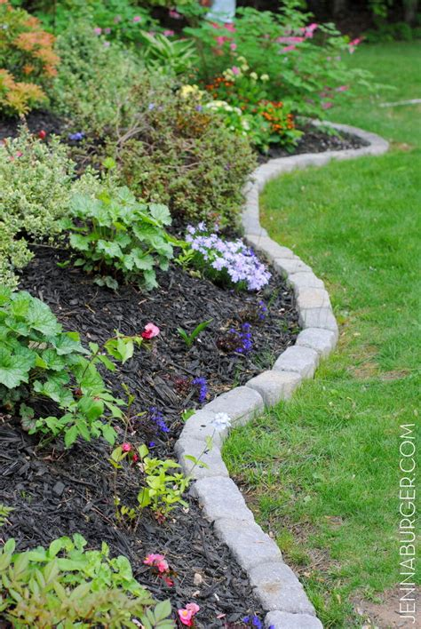 mow flower bed edging garden edging how to do it like a pro