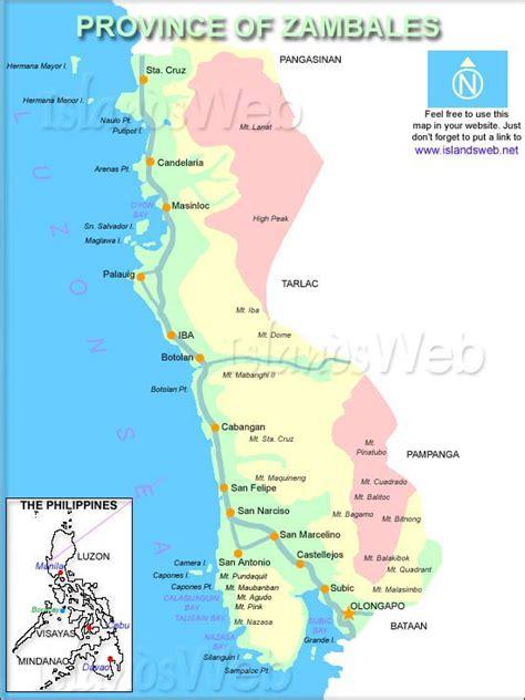 map  zambales province philippines citiestipscom