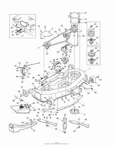 Mtd 14ai808h718  2004  Parts Diagram For Deck Assembly
