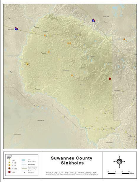 sinkholes  suwannee county florida