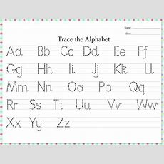 Dotted Alphabet Trace Practice Worksheet Etsy