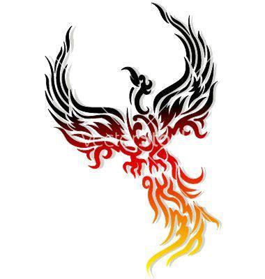 mythical phoenix bird vector arises   ashes phoenix bird tattoos tribal phoenix
