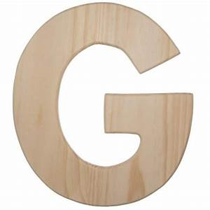 12quot natural wood letter g u0993 g craftoutletcom With natural wood letters