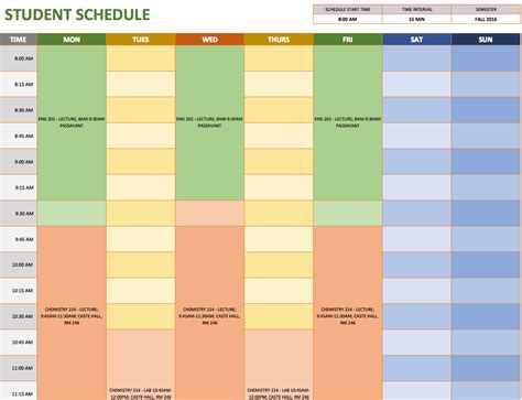 schedules template in excel free weekly schedule templates for excel smartsheet