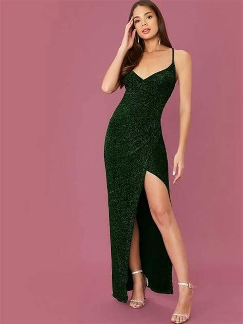 women long formal maxi glitter dresses
