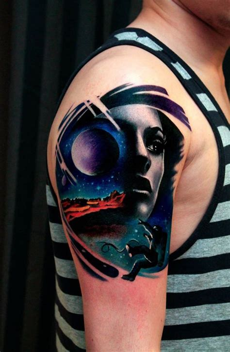 Space Tattoo Ideas For Astronomy Lovers Dzine Mag