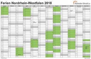 Jahreskalender 2018 2019 : ferien nordrhein westfalen 2018 ferienkalender zum ~ Jslefanu.com Haus und Dekorationen