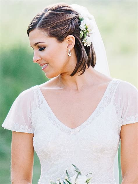 8 braided wedding hairstyles for short hair