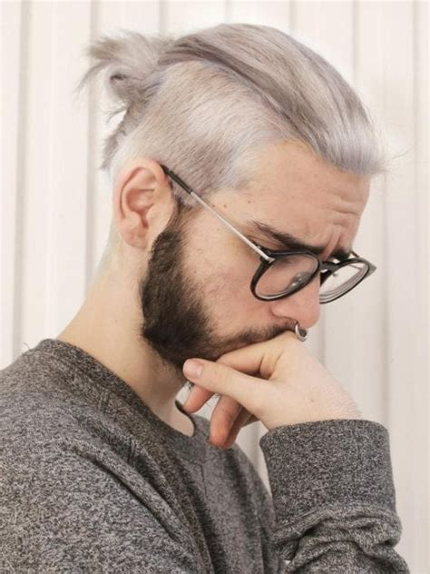 manly man bun top knot hairstyle combinations