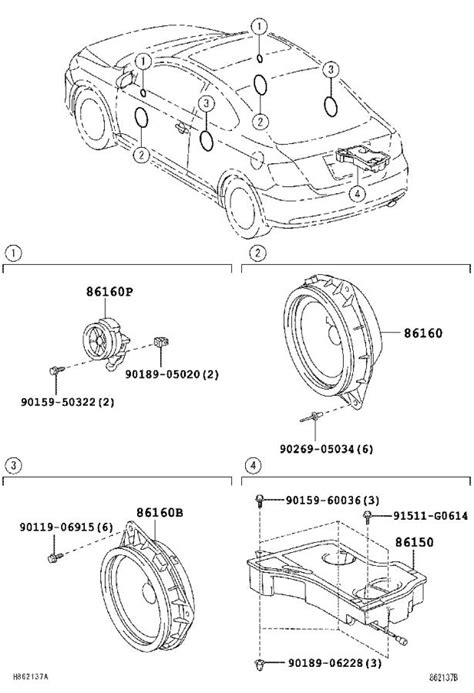2005 Scion Tc Radio Diagram by 2005 Scion Tc Speaker Rear Radio Audio Electrical