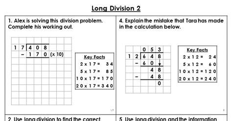 year  long division  lesson classroom secrets