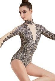 mock neck sleeve lace top 39 39 s leotards dancewear solutions
