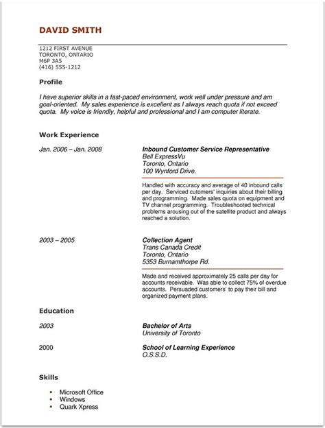 Talent Agency Resume No Experience by Actor Resume With No Experience Resume Sles