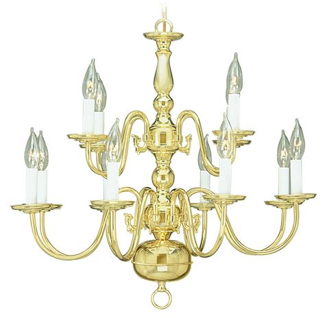 light polished brass chandelier hanging candle lamp