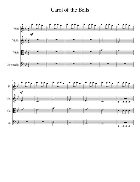 Piano traditional piano traditional piano free sheet music carol of the bells. Carol of the Bells Sheet music for Flute, Piano, Viola, Cello | Download free in PDF or MIDI ...