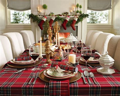 christmas dinner table decorations photograph modern decor