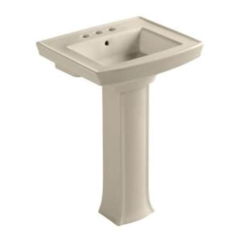 kohler archer pedestal combo bathroom sink in almond k