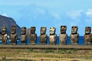 Moai at Ahu Tongariki in Easter island (Rapa Nui), Chile. Easter Island (Chile)