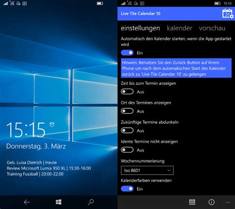 app vorstellung live tile calendar 10 f 252 r windows 10