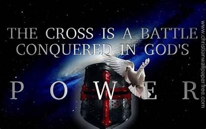 Cross Power Battle Conquered Christian God Gods