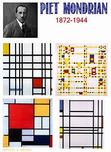 Kids Homeschool Art Lesson: Piet Mondrian - Happiness is