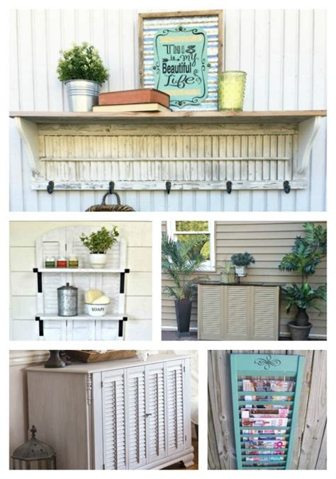 upcycled shutter projects salvage sister  mister