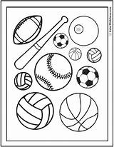 Coloring Sports Pages Printable Sheets Pdf Baseball Soccer Drawing Sport Ball Customize Printables Field Games Colorwithfuzzy Colouring Balls Preschool Books sketch template