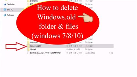 How To Delete Windows.old Folder And Files (windows 7