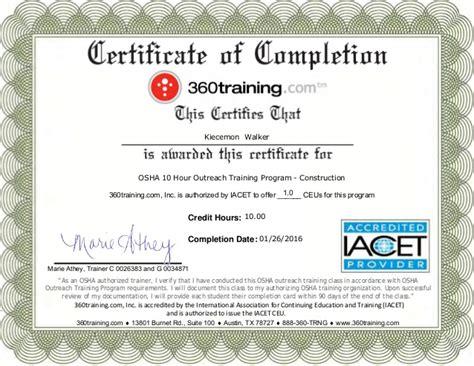 printcertificate osha  certificate