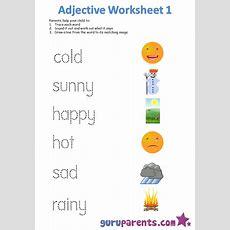 Adjective Worksheets Guruparents
