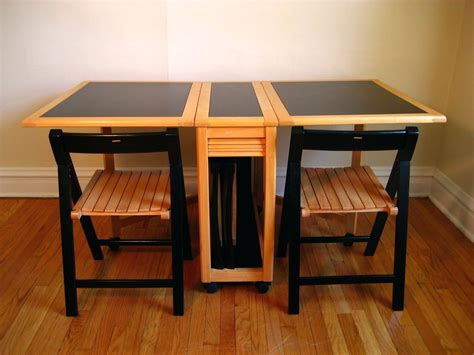 table with chairs that store inside amazon com linon space saver set table kitchen dining