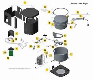Spare Parts Diagram  Truma Ultra Rapid