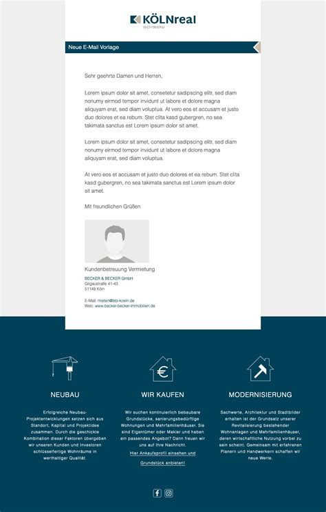 individuelle  mail designs templates fuer onoffice makler