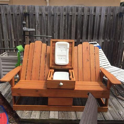 adirondack chairs  built  cooler storage