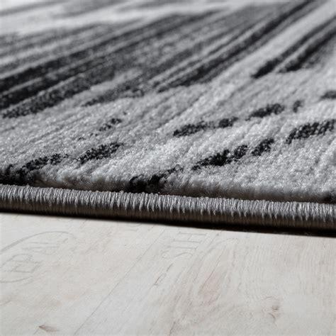 tapis noir poil ras tapis design 201 l 233 gant lignes douces poils ras gris cr 232 me noir chin 233 liquidation promotions