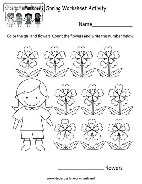 kindergarten spring worksheet activity printable spring