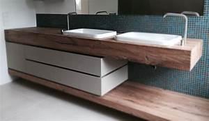 Waschtischplatte Holz Rustikal : waschtisch eiche free waschtisch eiche massiv flussstein waschbecken naturstein marmor with ~ Sanjose-hotels-ca.com Haus und Dekorationen