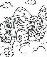 Coloring Road Trip Pages Truck Monster Printable Getcolorings Getdrawings sketch template
