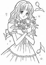 Coloring Pages Manga Cartoon Animated sketch template