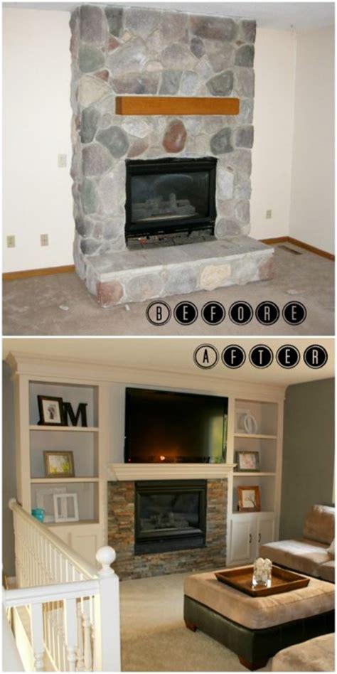 remodelaholic fireplace makeover  built  shelves